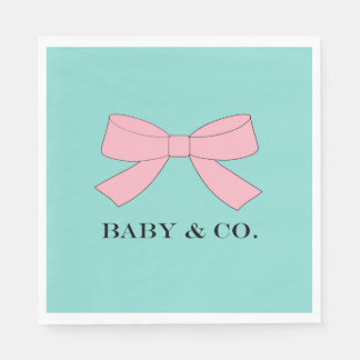 BABY & CO Blue And Pink Baby Reveal Party Napkins Disposable Napkin