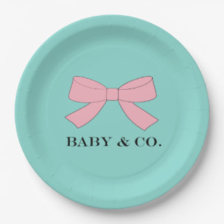 BABY & CO. Blue Baby Reveal Celebrate Party Plates