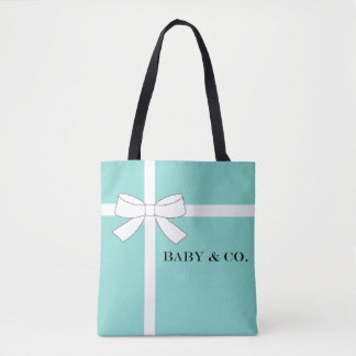BABY & CO. Blue Tiffany Baby Shower Tote Bag