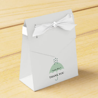 BABY & CO Green Shower Party Favor Boxes