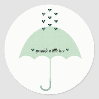 BABY & CO. Green Shower Party Stickers