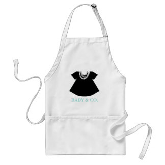 BABY & CO Little Black Dress Party Apron