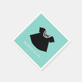 BABY & CO  Little Black Dress Party Napkins Disposable Napkin