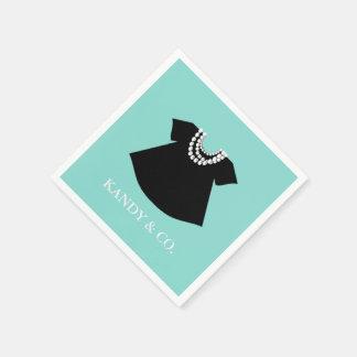 BABY & CO  Little Black Dress Party Napkins Disposable Serviettes