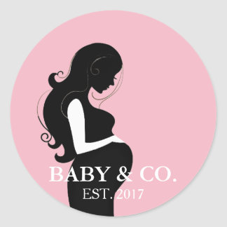 BABY & CO. Pink Girl Baby Shower Stickers