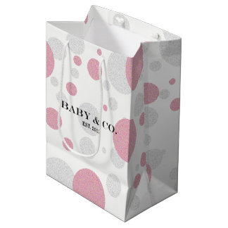 BABY & CO Pink Girl Polka Dot Party Gift Bag