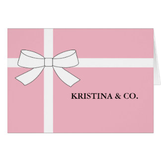 BABY & CO Pink Girl Shower Party Note Cards
