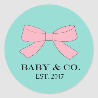 BABY & CO Teal Blue And Pink Baby Reveal Stickers