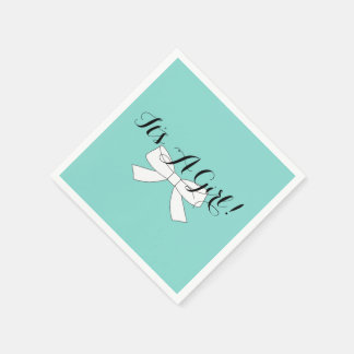 BABY & CO Teal Blue Baby Shower Party Napkins Paper Napkin
