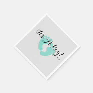 BABY & CO Teal Blue It's A Boy Party Napkins Paper Serviettes