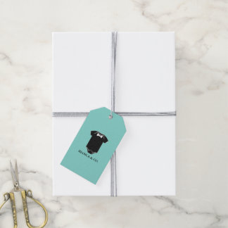 BABY & CO Teal Blue Little Man Party Gift Tags