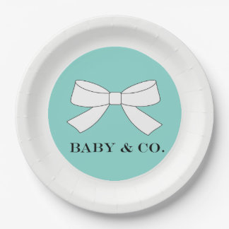 BABY & CO Teal Blue Tiffany Party Paper Plates