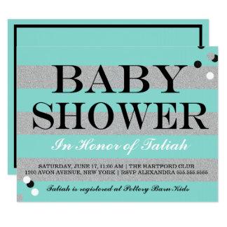 BABY & CO. Tiffany Baby Shower Invitation