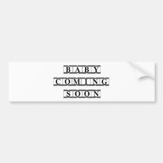 Baby Coming Soon Bumper Sticker