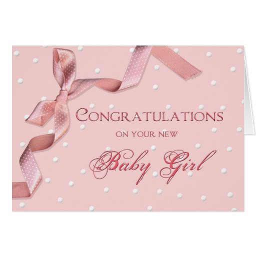 Baby Congratulations - Baby Girl Greeting Card   Zazzle