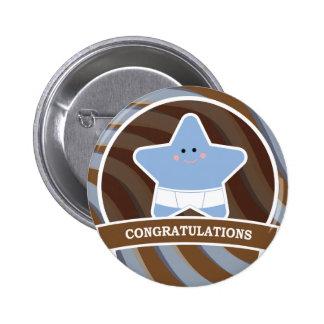 Baby Congratulations Design Pinback Button
