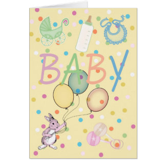 Baby congratulations new baby greeting card