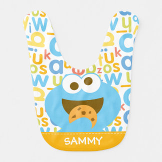 Baby Cookie Monster Eating | Add Your Name Bib