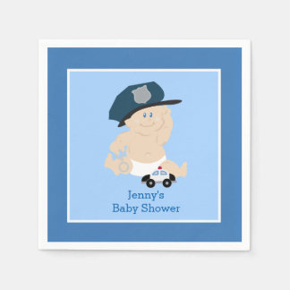 Baby Cop Police Officer Custom Napkin Disposable Napkins