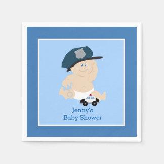 Baby Cop Police Officer Custom Napkin Disposable Serviette