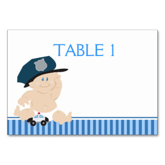 Baby Cop Police Officer Custom Table Card