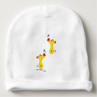 Baby cotton beanie hat, baby buddha foot(s), 408 baby beanie