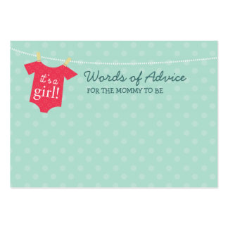 Baby Couture Mommy Advice Cards Pack Of Chubby Business Cards