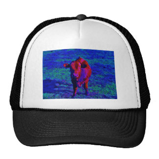 Baby Cow Purple grass Mesh Hats