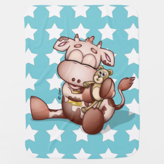 Baby Cow With Teddy Bear blanket