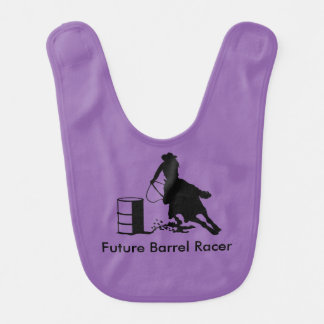 Baby Cowgirl Barrel Racer Rodeo Bib