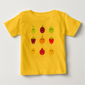 Baby creative t-shirt Yellow with Fruit
