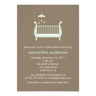 Baby Crib Neutral Baby Shower Card