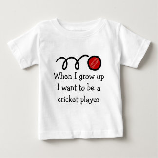 Baby cricket player | Cute newborn gift Baby T-Shirt