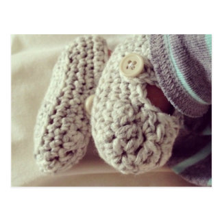 Baby Crochet Booties Postcard