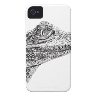 Baby Crocodile Ink Drawing iPhone 4 Covers