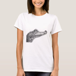 Baby Crocodile Ink Drawing T-Shirt