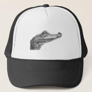 Baby Crocodile Ink Drawing Trucker Hat