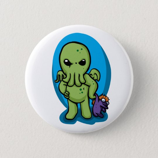 Baby cthulhu - cute cthulhu - cthulhu halloween 6 cm round badge