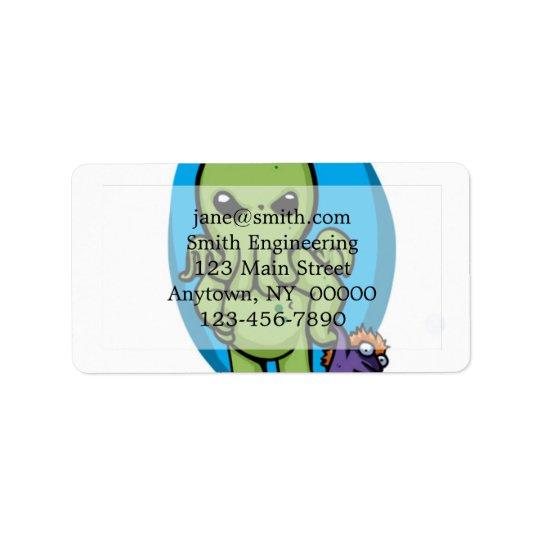 Baby cthulhu - cute cthulhu - cthulhu halloween address label