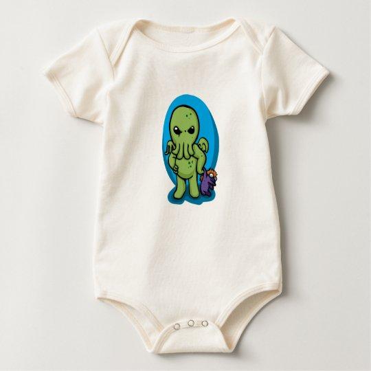 Baby cthulhu - cute cthulhu - cthulhu halloween baby bodysuit