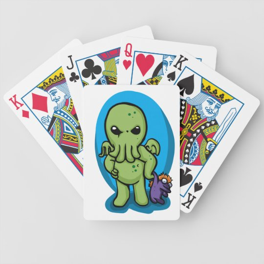 Baby cthulhu - cute cthulhu - cthulhu halloween bicycle playing cards
