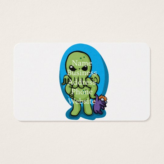 Baby cthulhu - cute cthulhu - cthulhu halloween business card