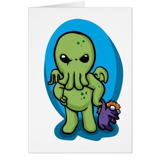 Baby cthulhu - cute cthulhu - cthulhu halloween card