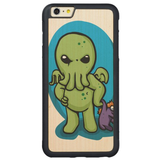 Baby cthulhu - cute cthulhu - cthulhu halloween carved maple iPhone 6 plus bumper case