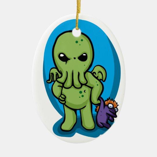 Baby cthulhu - cute cthulhu - cthulhu halloween ceramic ornament