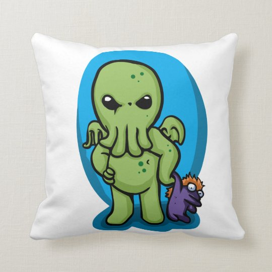Baby cthulhu - cute cthulhu - cthulhu halloween cushion