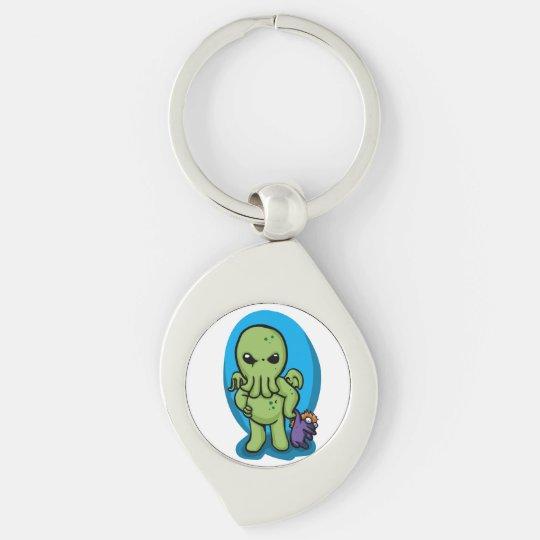 Baby cthulhu - cute cthulhu - cthulhu halloween key ring