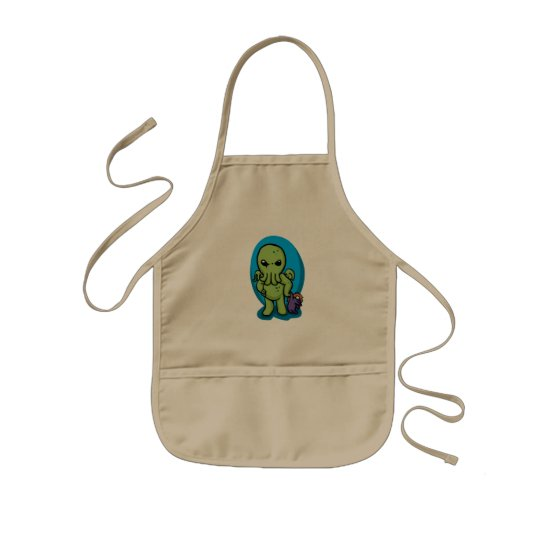 Baby cthulhu - cute cthulhu - cthulhu halloween kids apron