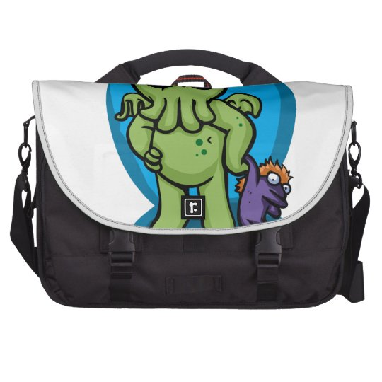 Baby cthulhu - cute cthulhu - cthulhu halloween laptop messenger bag