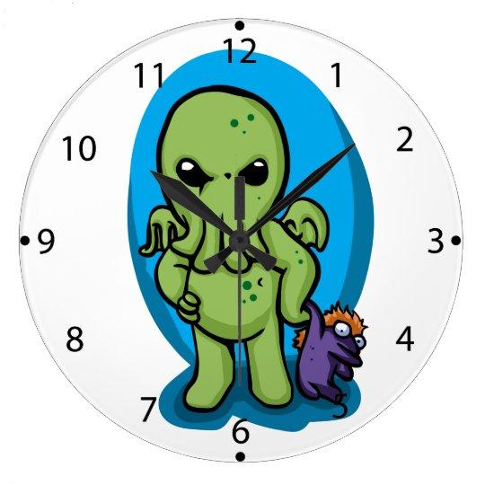 Baby cthulhu - cute cthulhu - cthulhu halloween large clock